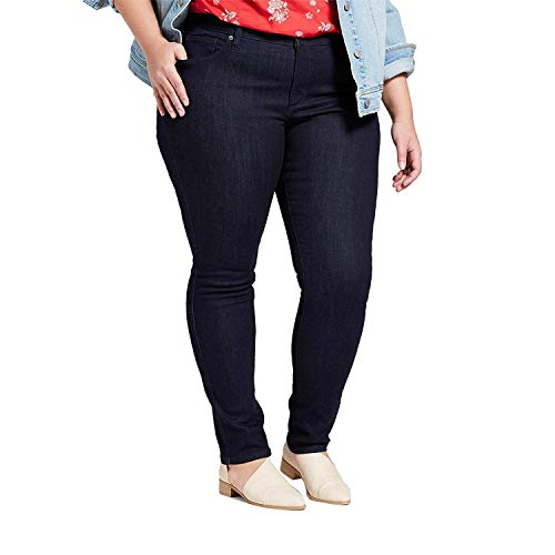 (Universal Thread Women's Medium Wash High-Rise Skinny Jeans Crisp Night Blue 18W)