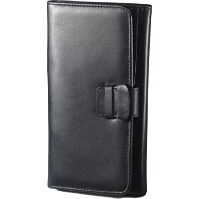 Leather Travel Organizer Color: Black