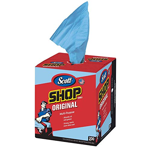 All States Ag Parts Scott Blue Shop Towels in a Box - Pk 200 Sheets