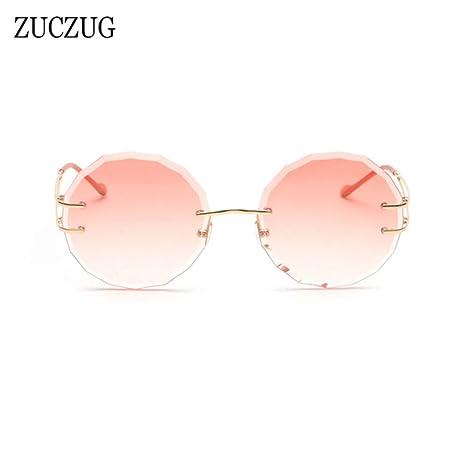 Yangjing-hl Gafas de Sol sin Montura de Moda Mujer Diseñador ...