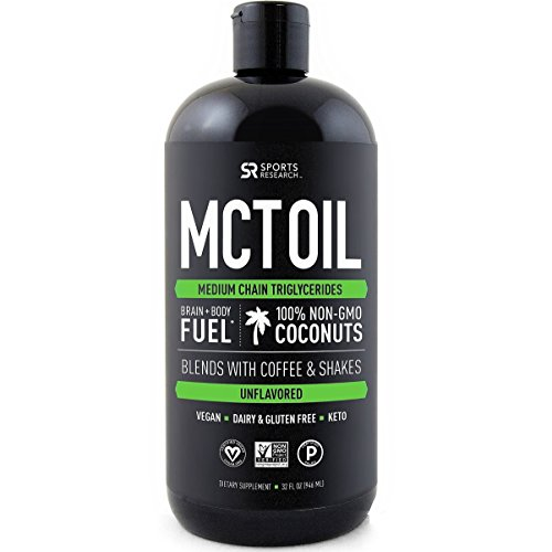 Premium MCT Oil derived only from Coconut Oil - 32oz BPA free...