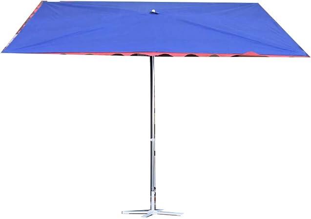 Sombrilla Inclinada/sombrilla para Exterior/sombrilla para Tienda/sombrilla de Mercado, Material de Acero Oxford Impermeable y Resistente a los Rayos UV con Base Cruzada, Modelos Modernos: Amazon.es: Hogar