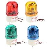 SM SunniMix 4 Pieces/Set 24V LED Rotating Strobe Warning Light Beacon Red Green Yellow Blue