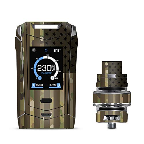 IT'S A SKIN Decal Vinyl Wrap Smok Species 230W TFV8 Baby V2 Vape Sticker Sleeve/American Flag camo Military Service USA Desert