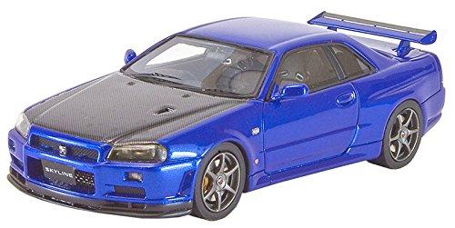 1/43 日産 スカイライン GT-R V-SpecII (BNR34) カーボンボンネット(ベイサイドブルー) PM4301CBL
