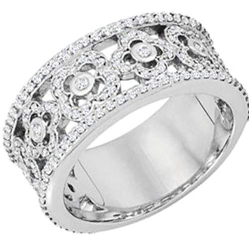 Anniversary Band Etruscan - Bonyak Jewelry 14k White Gold 5/8 CTW Diamond Etruscan Anniversary Band - Size 7