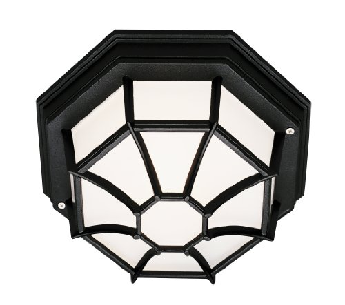 Outdoor Flush Mount Light With Photocell in US - 9