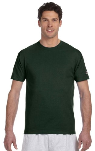 Champion T425 Adult Short-Sleeve T-Shirt (Dark Green, XXX-Large)