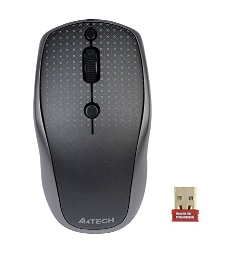 Wireless Mouse, A4tech mini wireless mouse with G9-530HX-2 Black and Grey ()