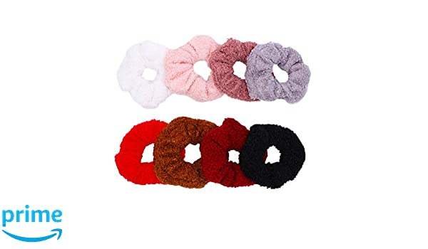 Hair Bows Furry Pom Pom Hair Bow Elastic Bobbles School Twin Pompom