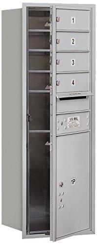 Salsbury Industries 3711S-04AFU 4C Horizontal Mailbox, Aluminum