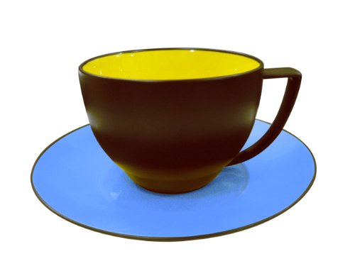 Waechtersbach Duo Cups & Saucers, Curry/Azur, Set of for sale  Delivered anywhere in USA
