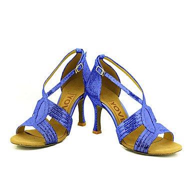 Plata de Azul blue Zapatos Personalizables Negro Tacón Oro Rojo baile Salsa Latino Personalizado xCXCqt7fn