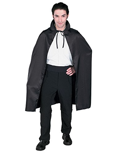 Rubie's Satin Cape 3/4 Length Costume, Black, 45-Inch