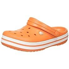 Crocs Crocband, Zuecos Unisex Adulto, Naranja (Orange/White 846), 43/44 EU