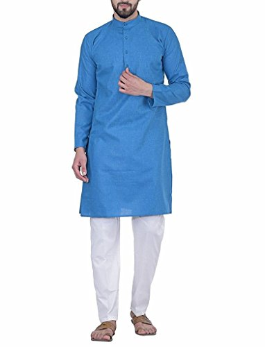 Royal Traditional Wear Blue Kurta Pajama Clothing Ethnic Traditional Cultural Dress