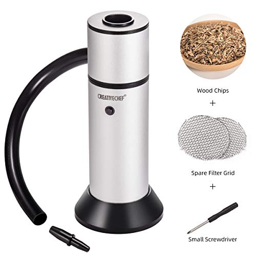 (TMKEFFC Portable Smoker, Smoke Gun Food Smoker to Enhance Taste for Meat,Sous Vide, Grill, BBQ, Cocktail Drinks & Cheese. Wood Chips for Smokers (Included))