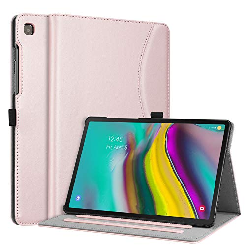 Fintie Case for Samsung Galaxy Tab S5e 10.5 2019 Model SM-T720(Wi-Fi) SM-T725(LTE) SM-T727(Verizon/Sprint), Multi-Angle Viewing Stand Cover with Packet Auto Sleep Wake Feature, Rose Gold