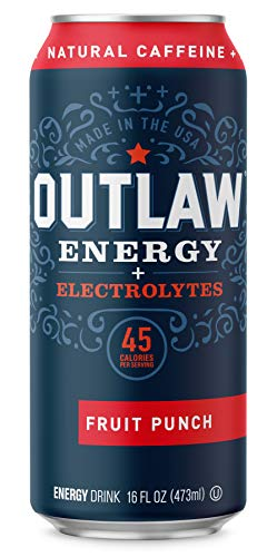 (Outlaw Energy Plus Electrolytes - Fruit Punch - 16 Ounce Cans / 12 Pack Case)