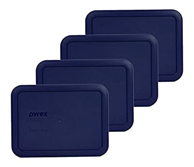 Pyrex 7210-PC Rectangle Blue 3 Cup Storage Lid for Glass Dish