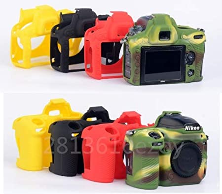 Color : D3500 red Pinyu Silicone Armor Skin Case DSLR Camera Body Cover Protector Video Bag for Nikon D750 D5500 D5600 D7100 D3400 D3500 D810 D7500