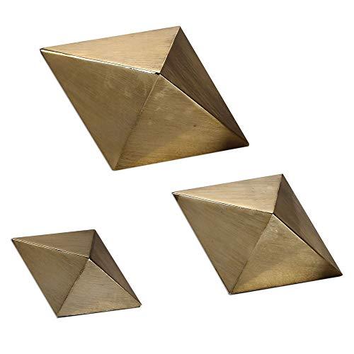Uttermost Champagne Rhombus 3-Piece Tabletop Sculpture - Uttermost Champagne