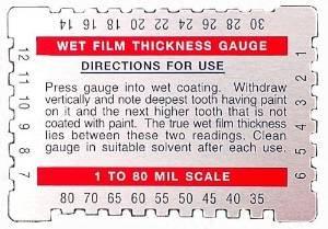 Dual Scale Wet Film Gauge. ()