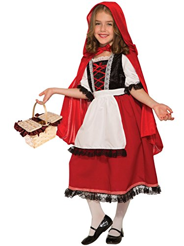 Deluxe Girl's Red Hood Costume