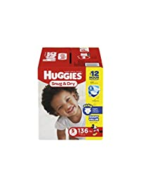 HUGGIES Snug & Dry Diapers, Size 5, 136 Count (Packaging May Vary) BOBEBE Online Baby Store From New York to Miami and Los Angeles