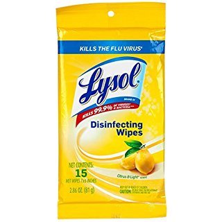 Lysol Disinfecting Wipes, Lemon & Lime Blossom, 15ct (4 Pack(15 Count))