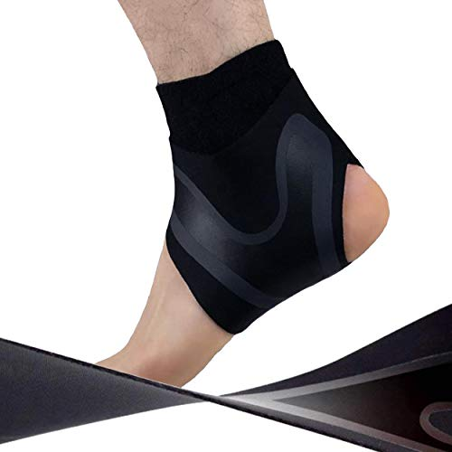 HiRui Ankle Brace Ankle Support Ankle Wrap for Running, Arthritis, Pain Relief, Sprains, Sports Injuries and Recovery, Ultra-Thin Breathable Neoprene Ankle Compression Brace (Right Foot, Large)
