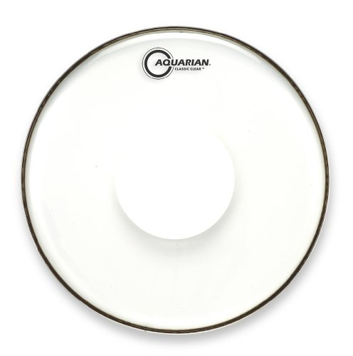 (Aquarian Drumheads CCPD13 Classic Clear 13-inch Tom Tom Drum Head, with Dot )