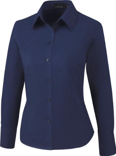 North End Ladies Wrinkle Resist Poplin Shirt. 77037 - Medium - Classic - Resist Shirt Poplin Wrinkle