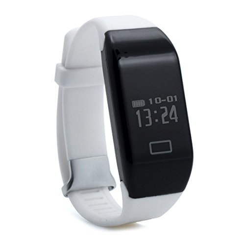 Price comparison product image H3 smart watch wristband - TOOGOO(R)H3 Bluetooth 4.0 IP67 waterproof OLED Display smart watch wristband Heart rate pedometer(white)