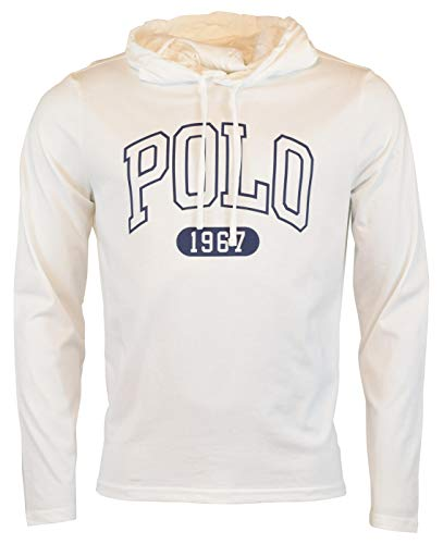 - Polo Ralph Lauren Men's Long Sleeve Graphic Jersey Hoodie - M - White