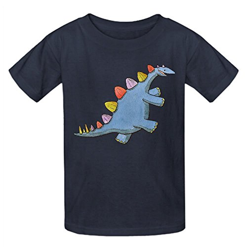 Price comparison product image Snowl Stomp A Saurus Boys' Crew Neck Personalized T Shirt Grey