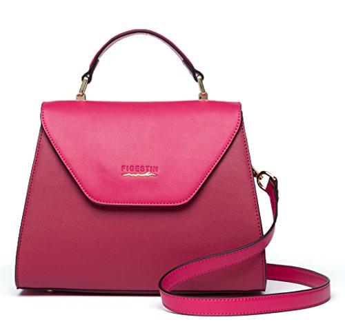 FIGESTIN Women Genuine Leather Handbags Shell Zipper Shoulderbags Purse Wallet