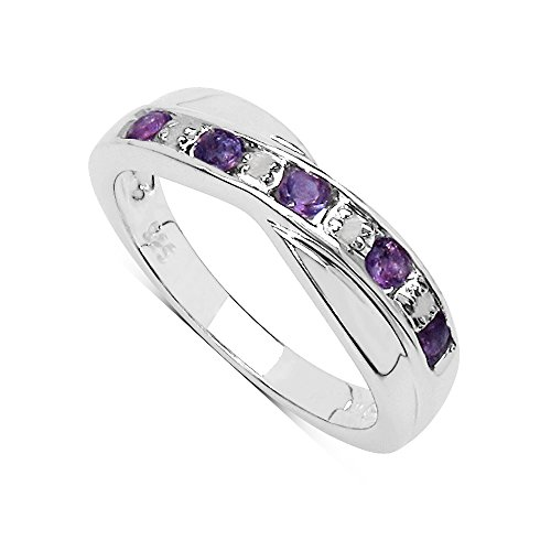 The Amethyst Ring Collection: Amethyst & Diamond Channel Set Crossover...