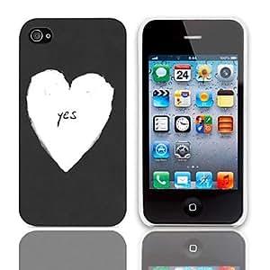 TY-Sí Caso duro del diseño con el paquete de 3 protectores de pantalla para iPhone 4/4S