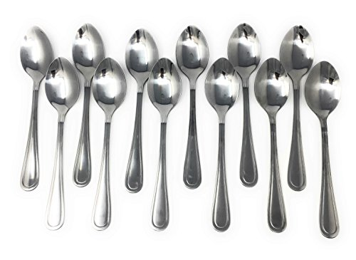 Handi-Ware Every Day Basic+ Mirror Polish Stainless Steel Cutlery Bulk Pack (60, Dinner Spoon)