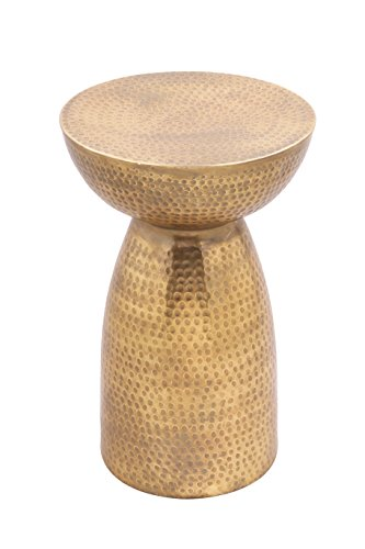 Brass Side Table (Antique Brass Hammered Mushroom Table)