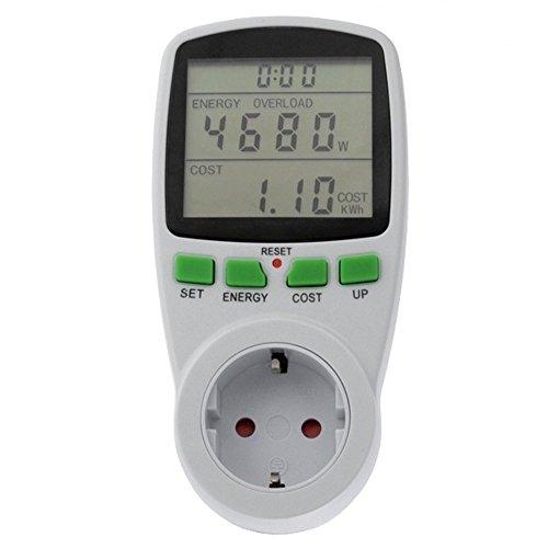 GreenBlue GB202G Energieverbrauch Messgerät Stromzähler Energiekostenmessgerät Verbrauchsmessgerät Schuko Steckdose Wattmeter