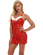 Draag Comfortabele Pyjama'S Lady Sexy Lingerie Kerst Cosplay
