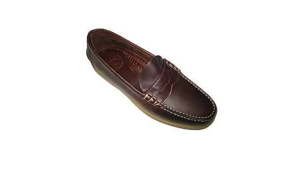 Pielsa 1493 Naútico Mocasín Nautimoc - Naútico de piel color marrón y piso de goma para hombre: Amazon.es: Zapatos y complementos