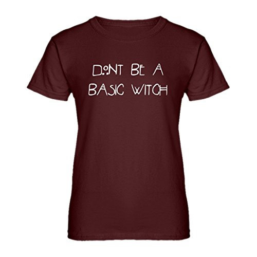 Indica Plateau Womens Dont Be a Basic Witch X-Large Maroon -