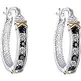 Women Creative Crystal Rhinestone Silver Ear Stud Hoop Dangle Earrings Walking Street