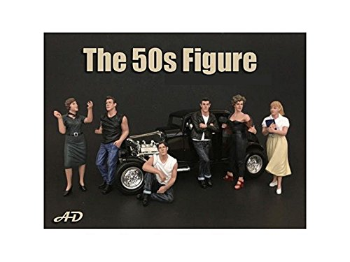 50's Style 6 Piece Figure Set for 1:18 Scale Models, used for sale  Delivered anywhere in USA
