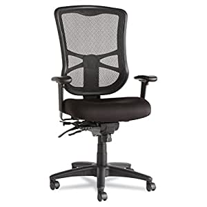 Alera ALEEL41ME10B Elusion Series Mesh High-Back Multifunction Chair, Black