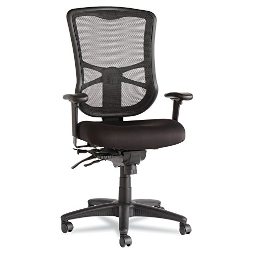 Alera ALEEL41ME10B Elusion Series Mesh High-Back Multifunction Chair, Black from Alera