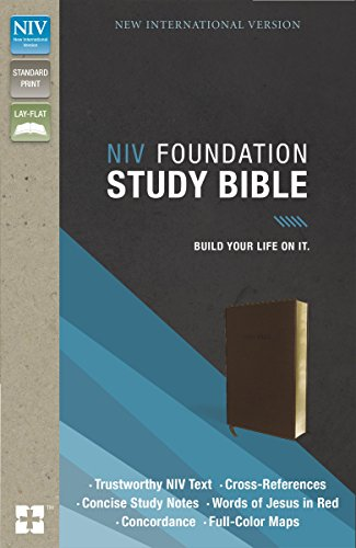NIV, Foundation Study Bible, Imitation Leather, Brown, Red Letter Edition